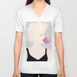 Bubble Girl Unisex V-Neck