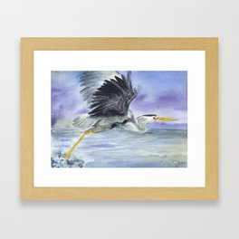 From Heron Out Framed Art Print