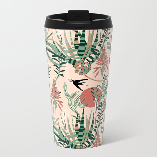 Succulents Jungle Metal Travel Mug