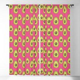 Medium Pink Avocado Pattern Blackout Curtain