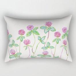 Red Clover - Botanical Neutral Rectangular Pillow