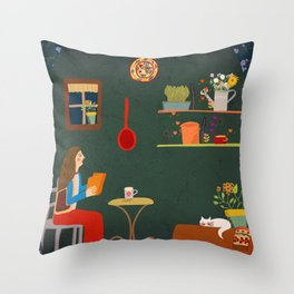 No place like home- Illustration Throw Pillow