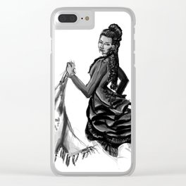 Soiled Linens Clear iPhone Case