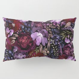 Deep Floral Chaos Pillow Sham