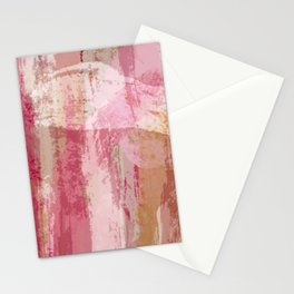 Salt Caramel, Pink Abstract Stationery Cards