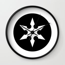 Ninja Shuriken Ideology Wall Clock