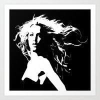 britney Art Prints featuring Pretty Britney by Dora Birgis