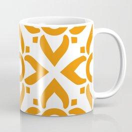 illustration decorative orange seamless vector pattern floral motifs Coffee Mug