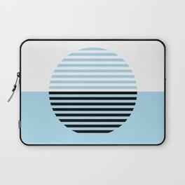 Horizons Geometric Design 4 - Turquoise Blue Sea Laptop Sleeve