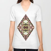 antique V-neck T-shirts featuring Antique Nature by LovePsyence