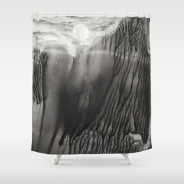Blackwater Park - abstract watercolor monotype Shower Curtain