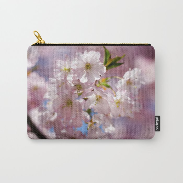 Pastel Pink flower blossom branch Carry-All Pouch