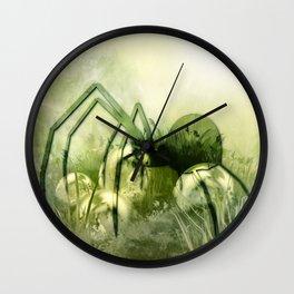 Spider green Wall Clock