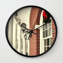 Festive Wreath Wall Clock