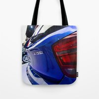 bmw Tote Bags featuring BMW M135i back by Mauricio Santana