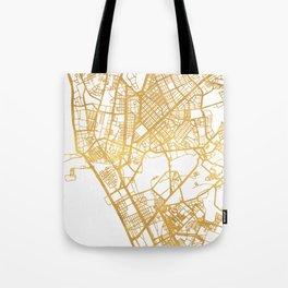 MANILA PHILIPPINES CITY STREET MAP ART Tote Bag