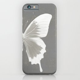 Butterfly on grunge surface iPhone Case