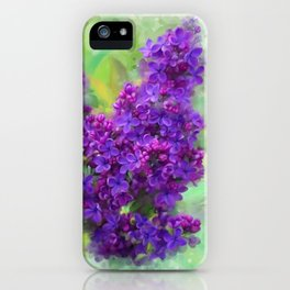 Watercolor Lilac iPhone Case