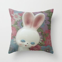 White Hare Throw Pillow