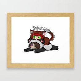 Inmates: Puppy and Panda Framed Art Print