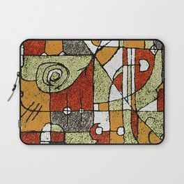 Multicolored Abstract Tribal Print Laptop Sleeve