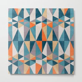 collage Style Abstract Art Metal Print