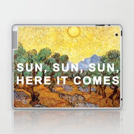 Here Comes the Yellow Sky and Sun Laptop & iPad Skin