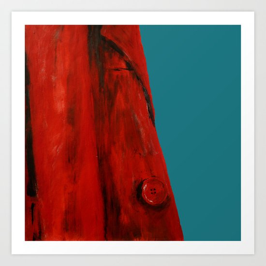 Red Coat Blue Edit Art Print