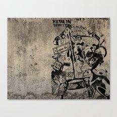 Berlin Street Art concrete Canvas Print