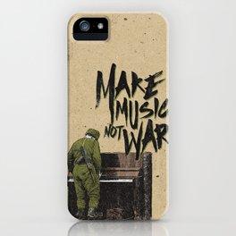 make music not war iPhone Case