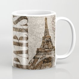 Vintage Paris eiffel tower illustration Coffee Mug