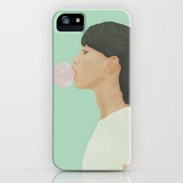 Blowing Bubble Gum iPhone Case