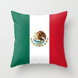 Flag of Mexico, Mexican Flag Throw Pillow
