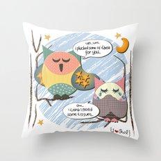 I {❤} OWL Throw Pillow