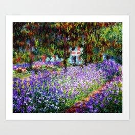 "Claude Monet ""Irises in Monet's Garden at Giverny"", 1900 Art Print"