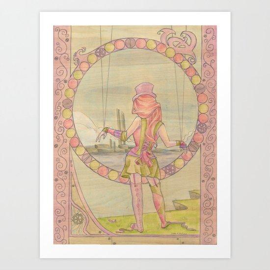 Steampunk Marionette Art Print