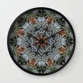 Spruce Cones And Needles Kaleidoscope K4 Wall Clock