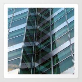 Manhattan Windows - Crystal Art Print