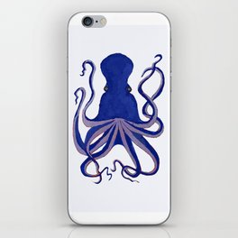 Octopus Blue iPhone Skin