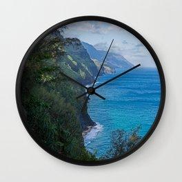 Kalalau Trail on Kauai Island of Hawaii Wall Clock