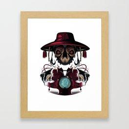 Dirty Red Cardinal Framed Art Print