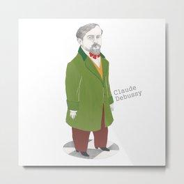 Claude Debussy Metal Print