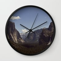 yosemite Wall Clocks featuring Yosemite by Jeff Harmon Photography