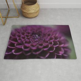 Purple Dalia Flower - Dignity and Grace Rug