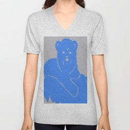 Polar Bear Screen print - Wild Veda Unisex V-Neck