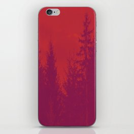 Purple Forest On Red Background #decor #society6 iPhone Skin