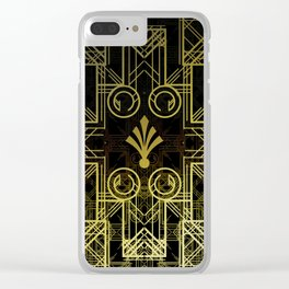 Art Deco Circuit Clear iPhone Case