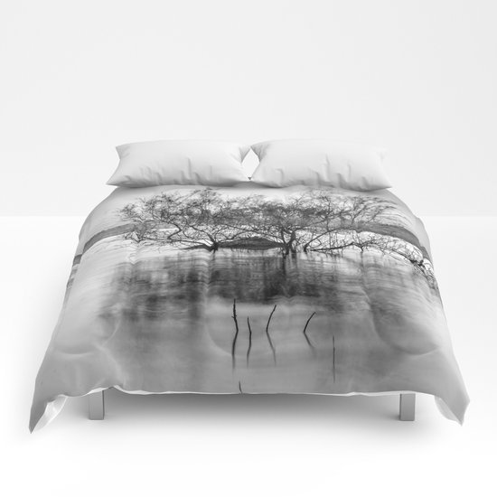 """Peace at the lake"". Dream sunset. Monochrome Comforters"
