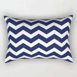Chevron Navy Blue Rectangular Pillow