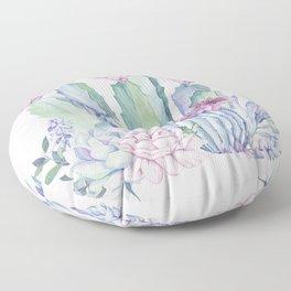 Desert Love Cactus + Succulents Floor Pillow